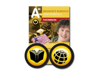 Bromfiets theorieboek + 10 online oefenexamens